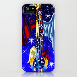 Fusion Keyblade Guitar #165 - Way to the Dawn & Star Seeker iPhone Case