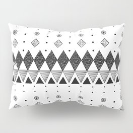 Geometric Screen Print Pillow Sham