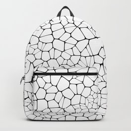 Stained glass colorful voronoi with fillet, vector abstract. Irregular cells background pattern. 2D Backpack