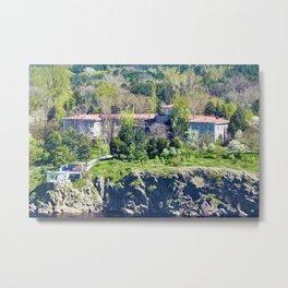 Big house on the river bank Metal Print