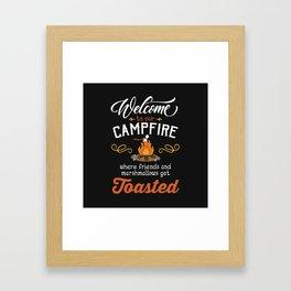 Get Toasted Framed Art Print