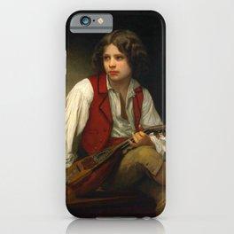 """William-Adolphe Bouguereau """"Italien à la mandoline (Italian with mandolin)"""" iPhone Case"""