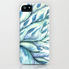 Tree of Life (blues) iPhone Case
