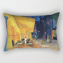 Cafe Terrace, (1888) Rectangular Pillow