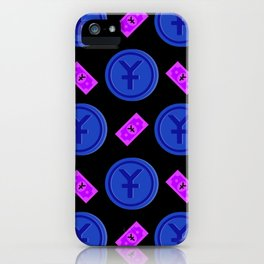 Chinese Yuan pattern background. iPhone Case