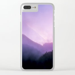 Morning Fog - Landscape Photography Clear iPhone Case