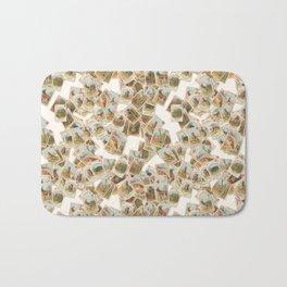 Children's Victorian card game animals domestic and wild wallpaper Bath Mat