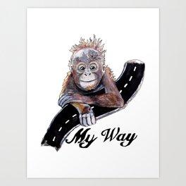 My Way Art Print