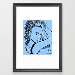 Curly Girl Framed Art Print