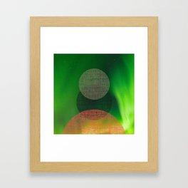 Green Pink Sky Framed Art Print