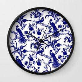 Royal french navy peacock Wall Clock