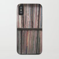 records iPhone & iPod Cases featuring Records by Loudesthowl