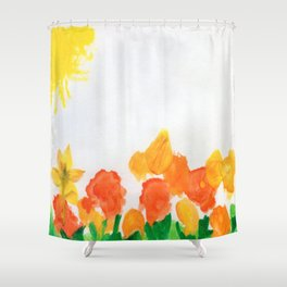 Watercolor Floral Series B Shower Curtain