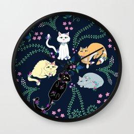 Garden Kitties Wall Clock