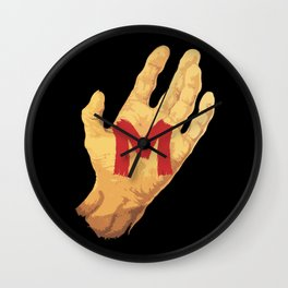 The Hand and the Murderer Wall Clock