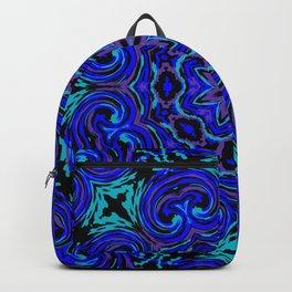 Bright Blue Kaleidoscope Backpack