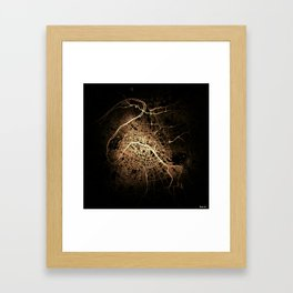 Paris map lights Framed Art Print