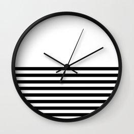 Half Stripes Wall Clock