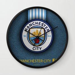 Manchester City England Football Club Wall Clock