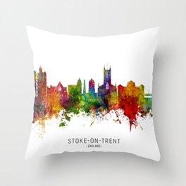 Stoke-on-Trent England Skyline Throw Pillow