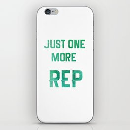 One More Rep iPhone Skin