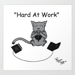 Hard At Work Art Print