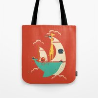 voyage Tote Bags featuring Voyage by Jay Fleck