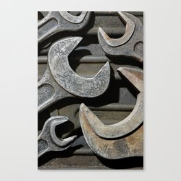 Group of old wrenches Canvas Print