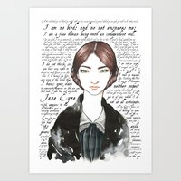jane eyre Art Prints featuring Jane Eyre by Makissima