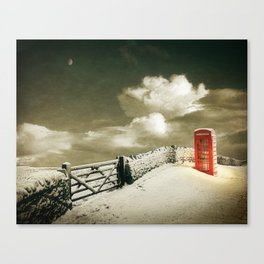 Winter in the Cotswolds, England Canvas Print