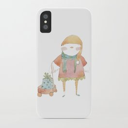 Bird Elf with a Gift iPhone Case