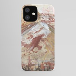 Modern Abstract Mourne Mountain Landscape of Ireland iPhone Case