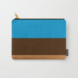Tri-Color [Blue, Chocolate, Tan] Carry-All Pouch