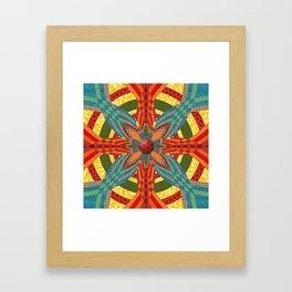 Thistle Pattern Framed Art Print