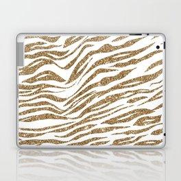 White & Glitter Animal Print Pattern Laptop & iPad Skin