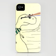 Hipster Laser Dinosaur iPhone (4, 4s) Slim Case