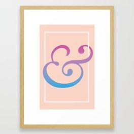 Frame the Ampersand Framed Art Print
