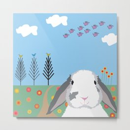 Jokke, The Rabbit Metal Print