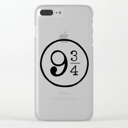 Platform 9 3/4 Nine And Three Quarters Clear iPhone Case