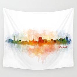 Rome city skyline HQ v03 Wall Tapestry
