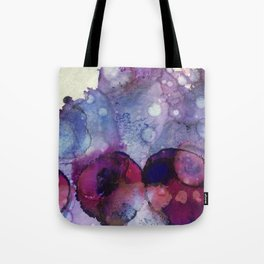 Purple Lily Pads Tote Bag