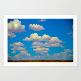 Cartoon Clouds Art Print
