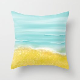 Beach front Throw Pillow