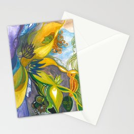 Waterlily Masquerade Stationery Cards
