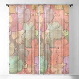 Rustic tree slices in a modern style Sheer Curtain