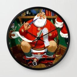 The Night Before Christmas - Santa's List Wall Clock