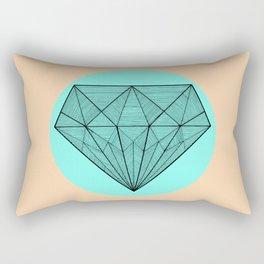 Crystaline in circle Rectangular Pillow