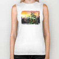 jedi Biker Tanks featuring Gerbil Jedi by Wesley S Abney