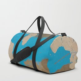 Turquoise and Gold Duffle Bag
