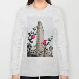 Pink Flowers in New York City (Color) Long Sleeve T-shirt